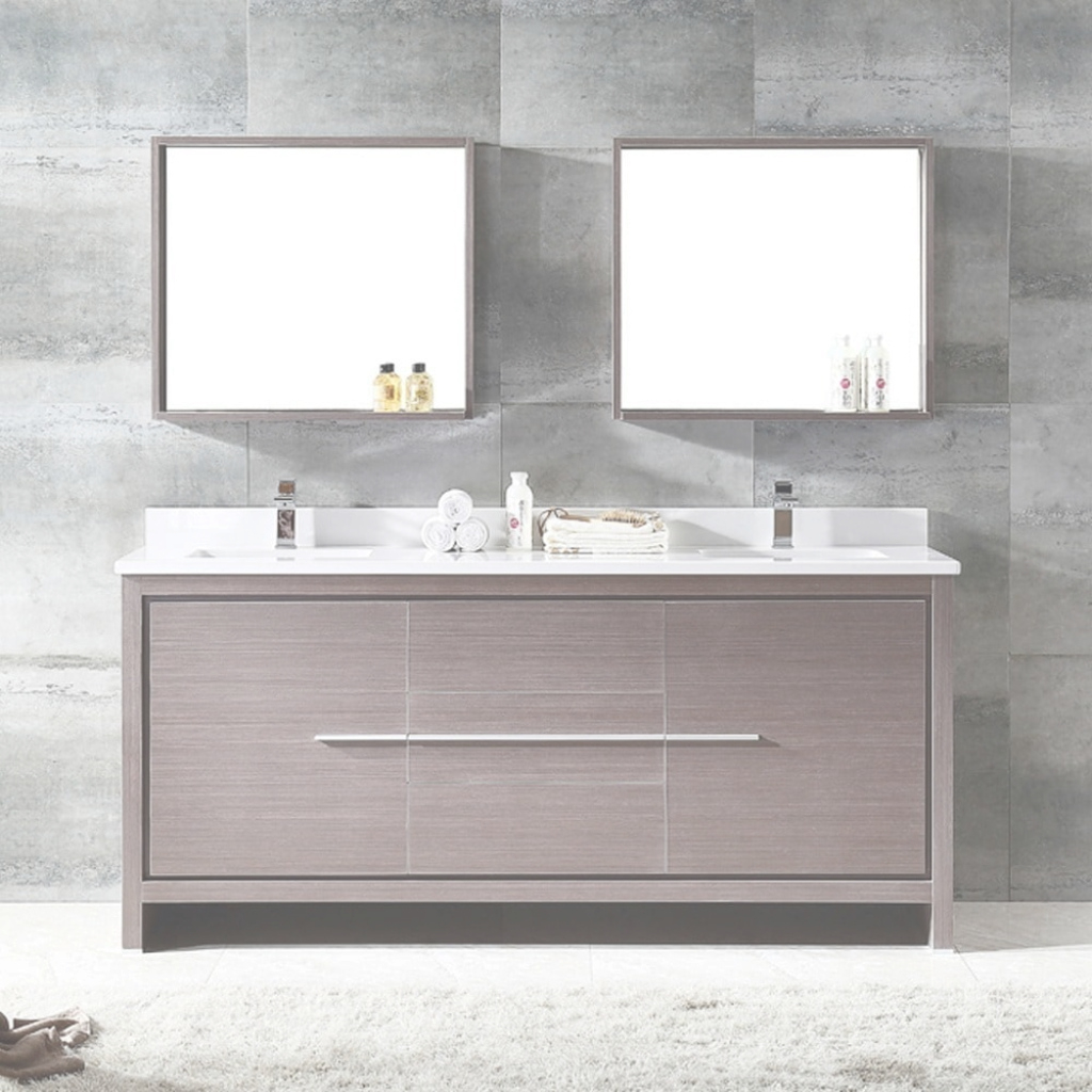 Fancy Shop Fresca Allier 72-Inch Grey Oak Modern Double Sink Bathroom with regard to Awesome Fresca Bathroom Vanity