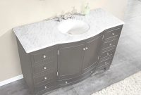 Fancy Silkroad 55 Inch Single Sink Bathroom Vanity Carrara White Marble inside Fresh Marble Bathroom Vanity