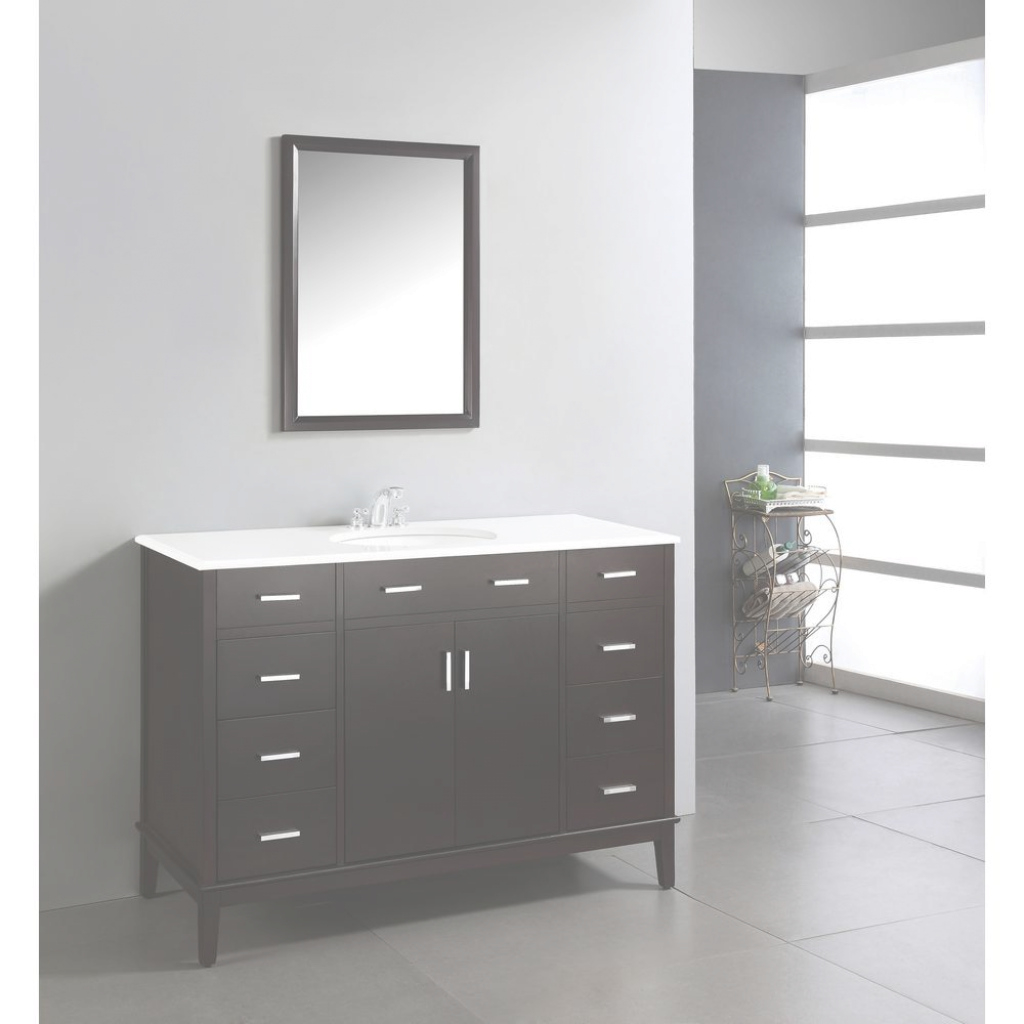 Fancy Simpli Home Urban Loft 48 In. Vanity In Espresso Brown With Quartz with Review 48 Inch Bathroom Vanity With Top