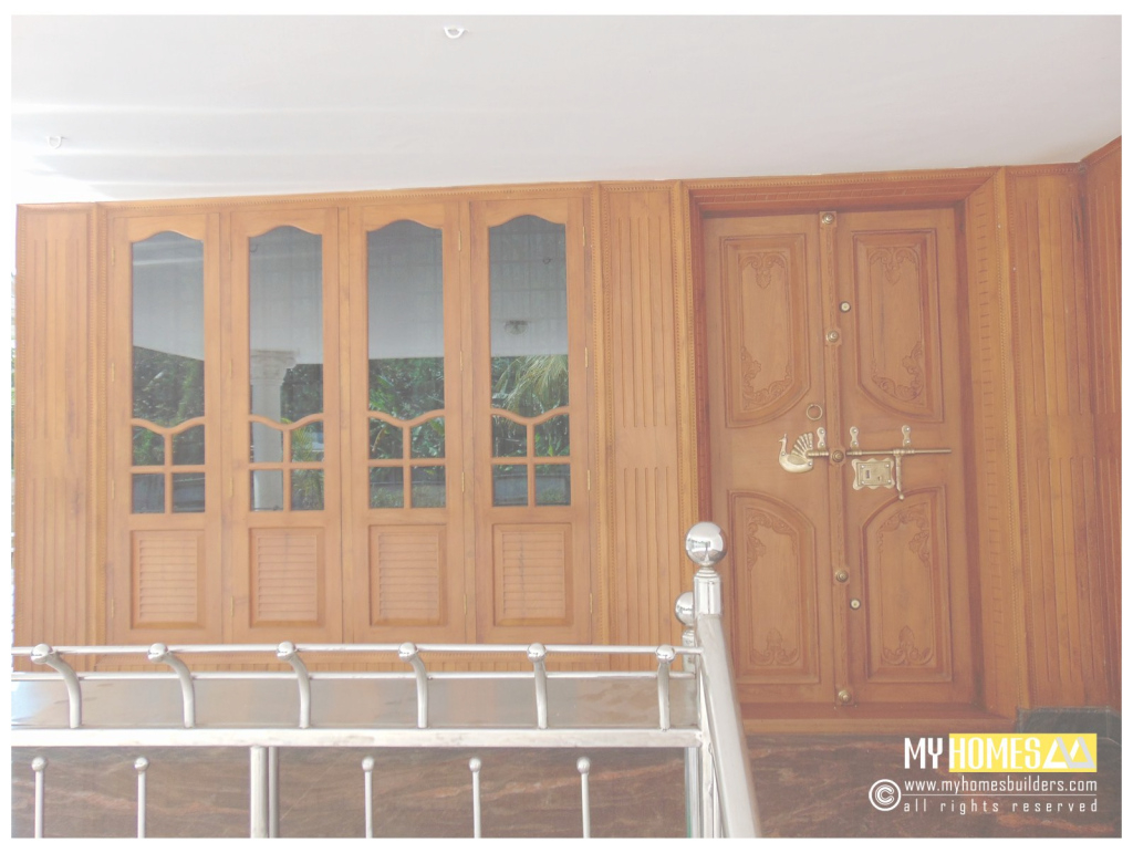 Fancy Single And Double Style Door Design Kerala For House In India | Home for Window Glass Design In Kerala