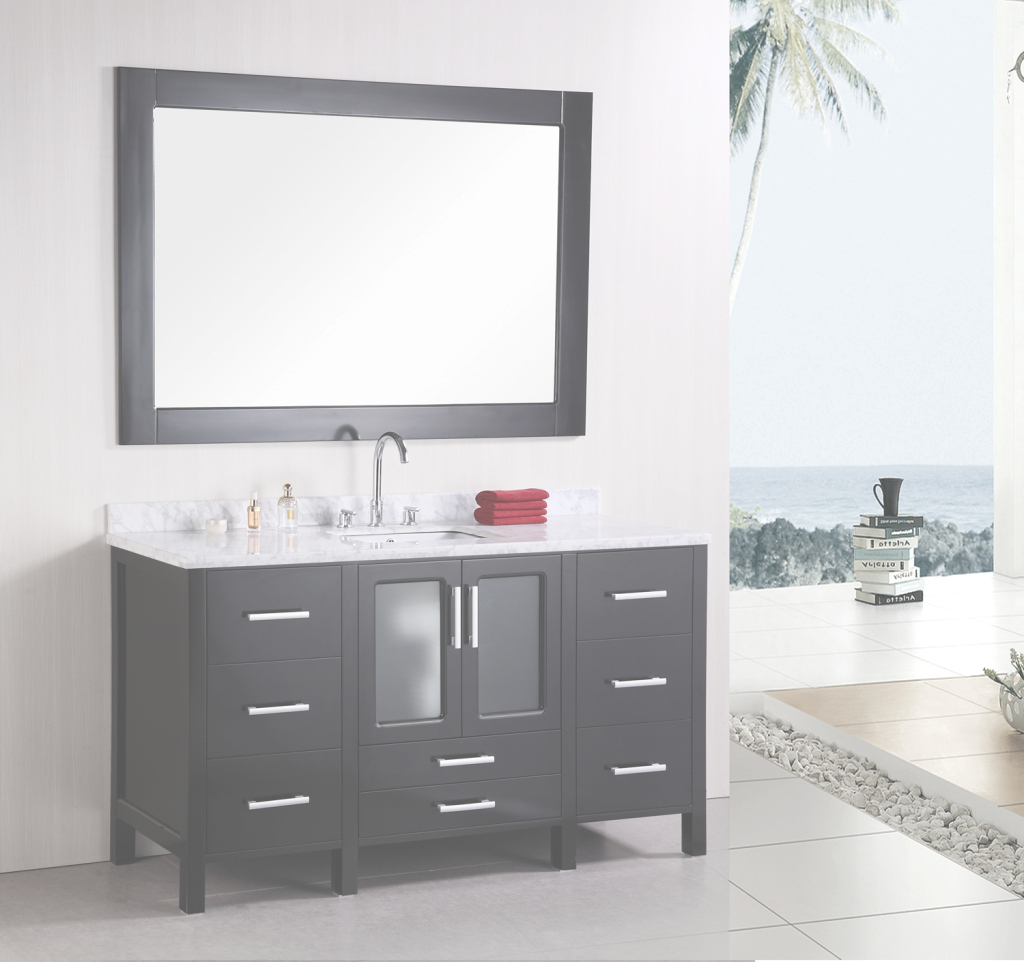 Fancy Single Bathroom Vanities From 60-Inches And Wider within 60 Inch Single Sink Bathroom Vanity