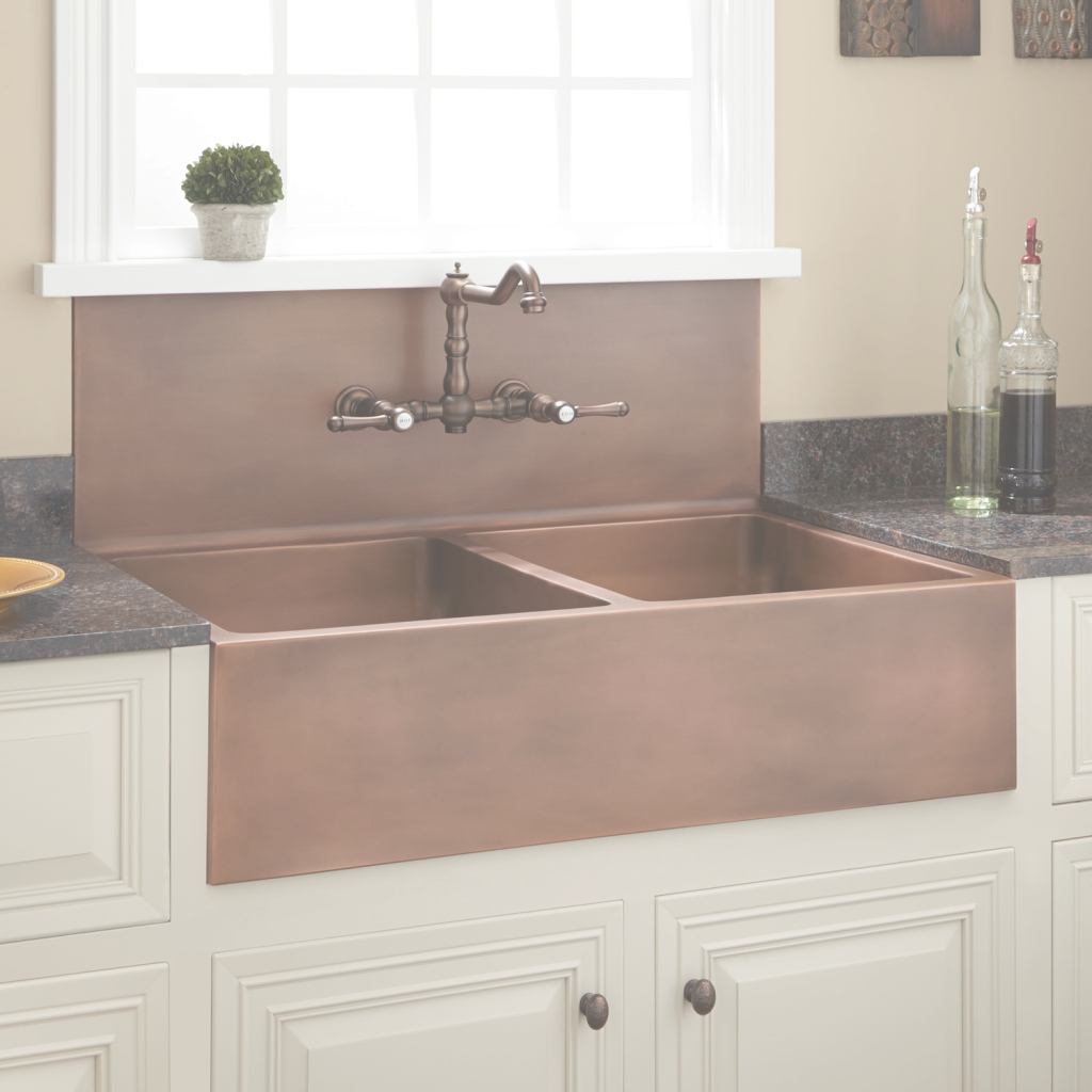 Fancy Sinks With Backsplash | Signature Hardware for Awesome Bathroom Sink Backsplash