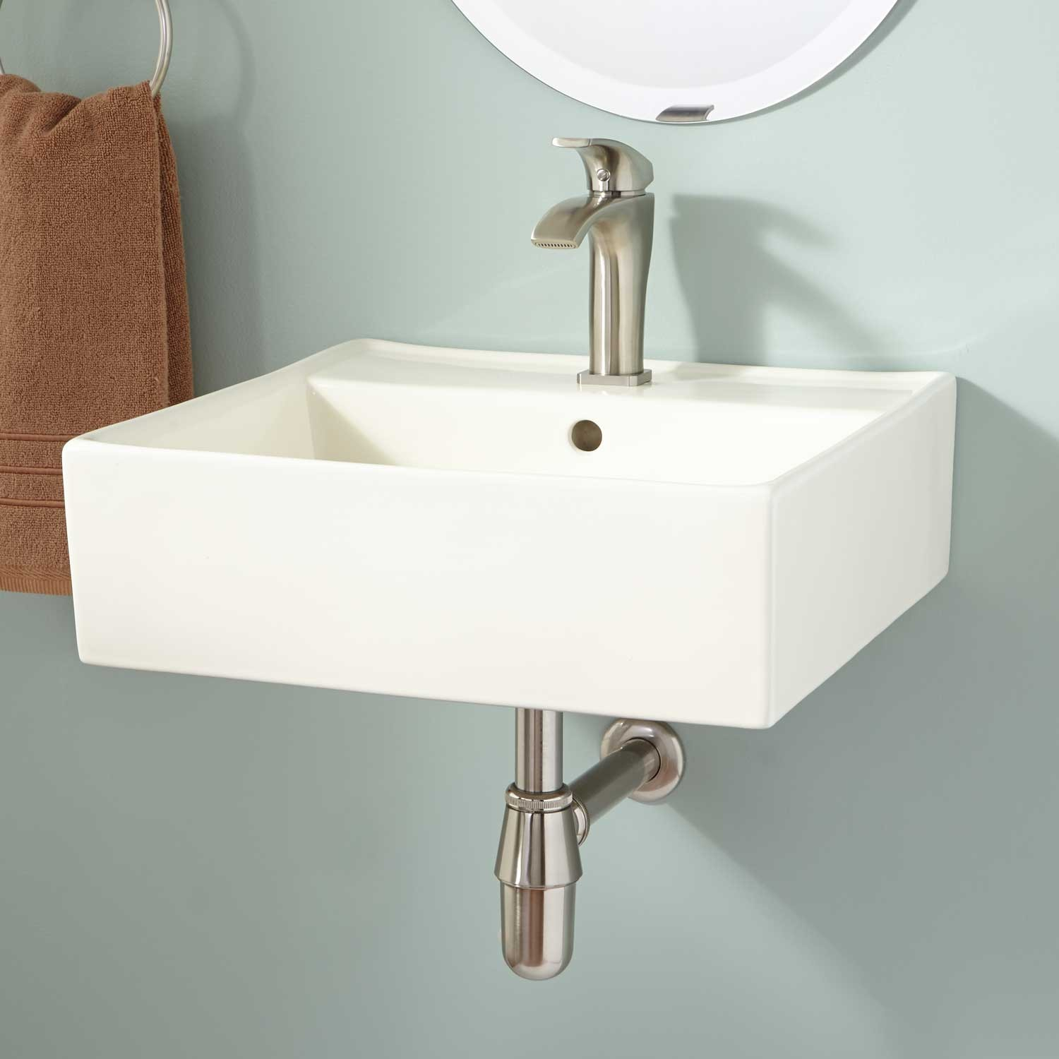 Fancy Small Wall Mounted Bathroom Sinks Modern Best 25 Ideas On Pinterest pertaining to Small Bathroom Sinks Wall Mount