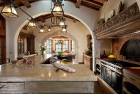 Fancy Spanish Colonial – Hacienda Style Kitchen And Gathering Room with Beautiful Colonial Kitchen Design
