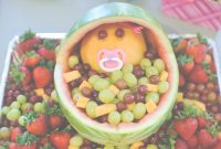 Fancy The Mandatory Mooch: Baby Shower Fruit Bassinet pertaining to Review Watermelon Baby Shower