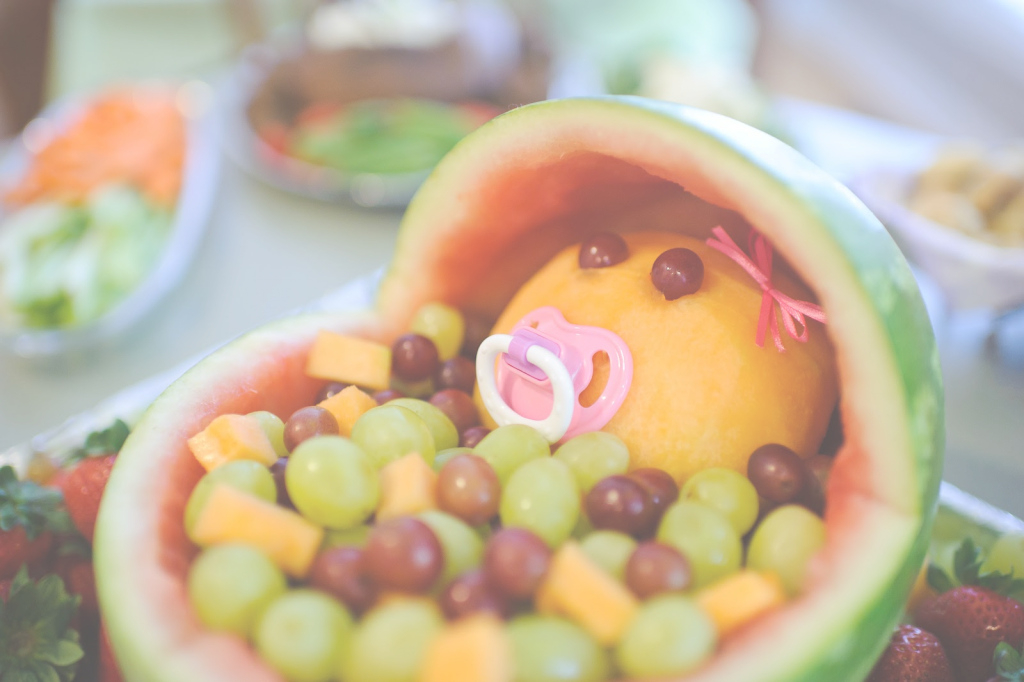 Fancy The Mandatory Mooch: Baby Shower Fruit Bassinet throughout Review Watermelon Baby Shower