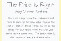 Fancy The Price Is Right Baby Shower Game Guess The Price Baby with regard to Beautiful Baby Shower Price Is Right