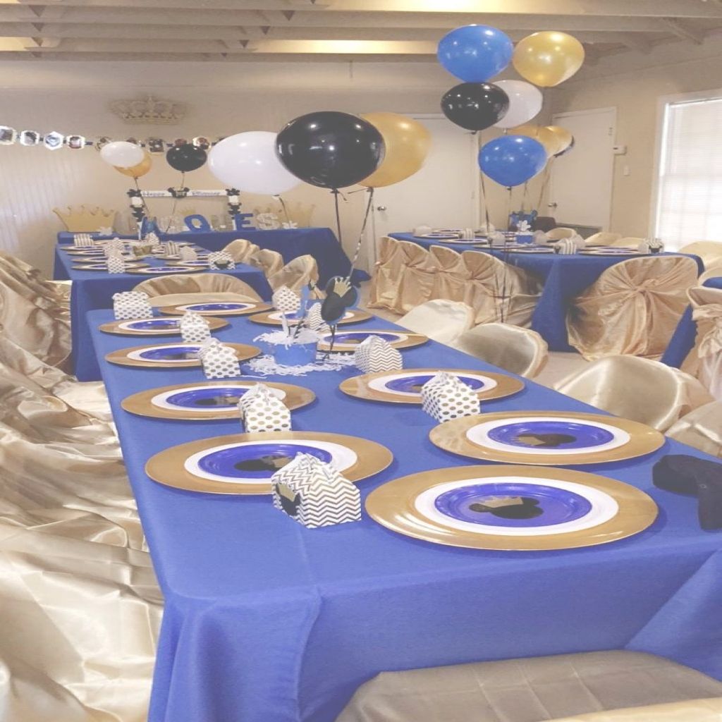 Fancy Themes Birthday Royal Blue And Gold Prince Themed Ba Shower In inside Lovely Prince Themed Baby Shower Decorations
