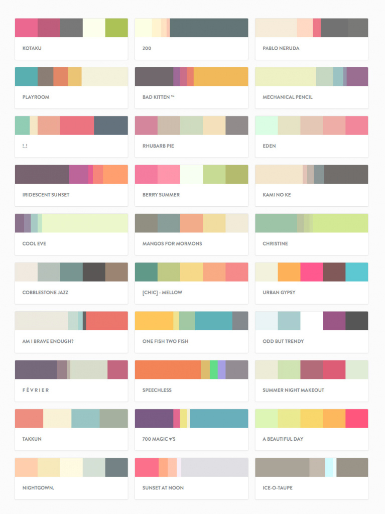 Fancy Top 150 Most Popular Pltts Color Palettes - Beantown Design throughout Color Palette With Names