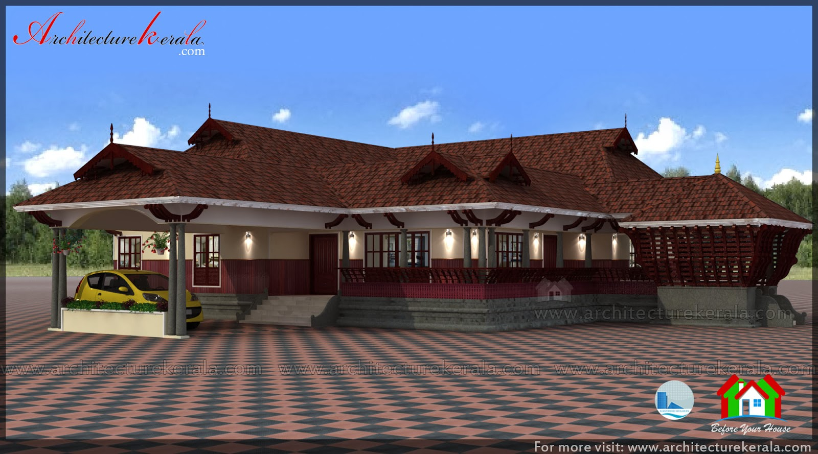Fancy Traditional House Plan With Nadumuttam And Poomukham - Architecture with Inspirational Kerala Traditional House Plans With Photos