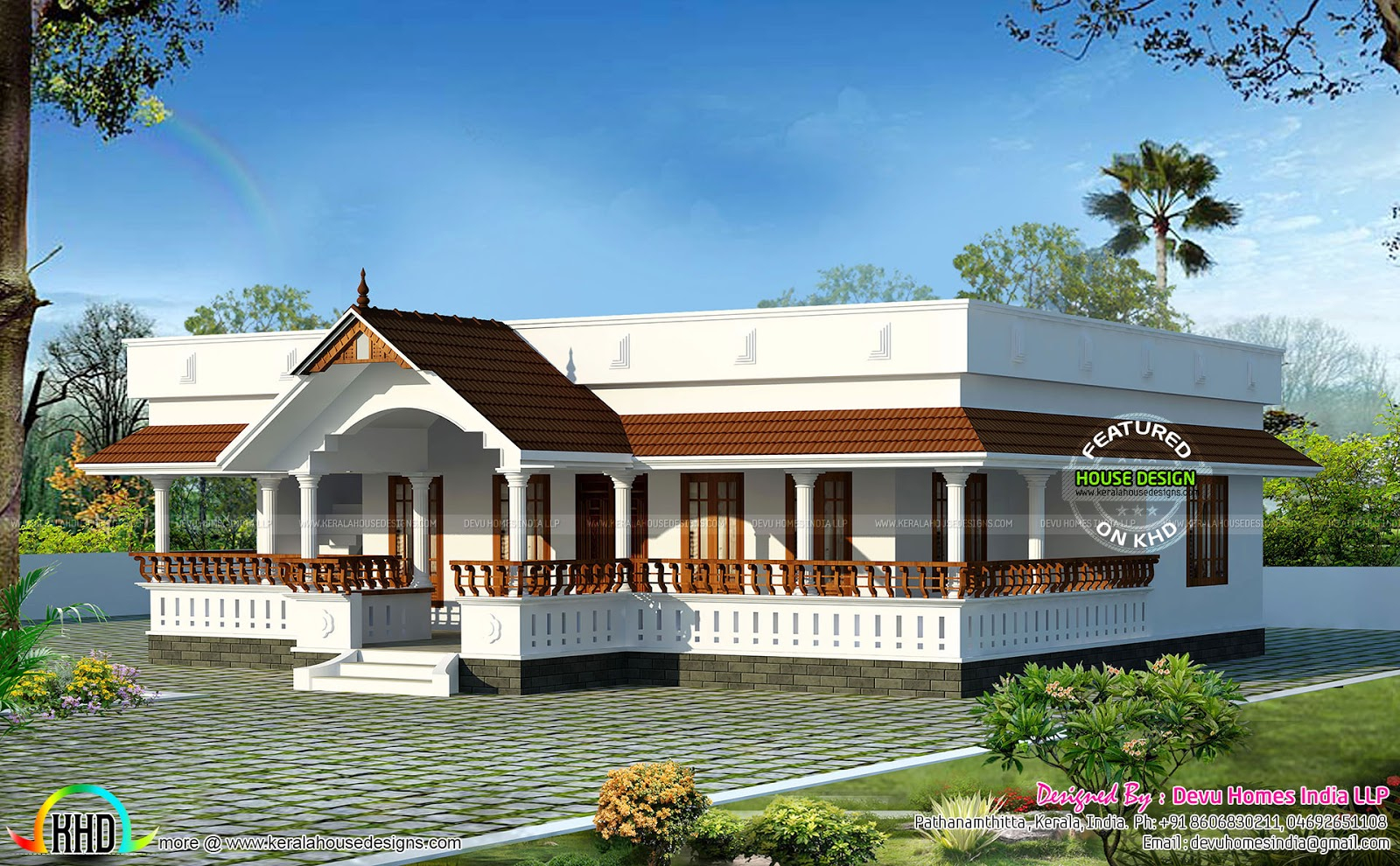 Fancy Traditional Single Floor Home | Kerala Home Design | Bloglovin' for Inspirational Kerala Traditional House Plans With Photos
