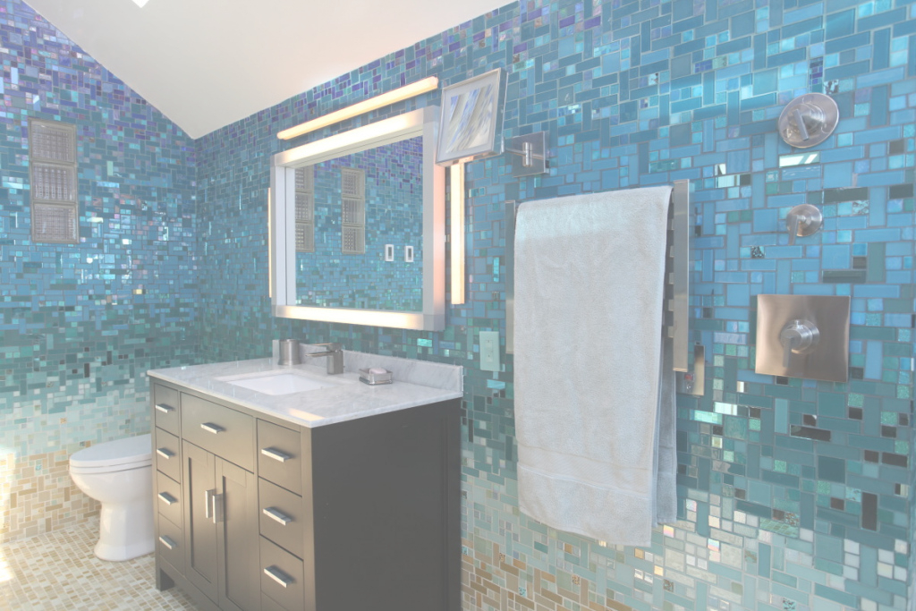 Fancy Truly Custom Tile Mosaics For Any Budget - Fine Homebuilding for Blue Bathroom Mosaic Tiles