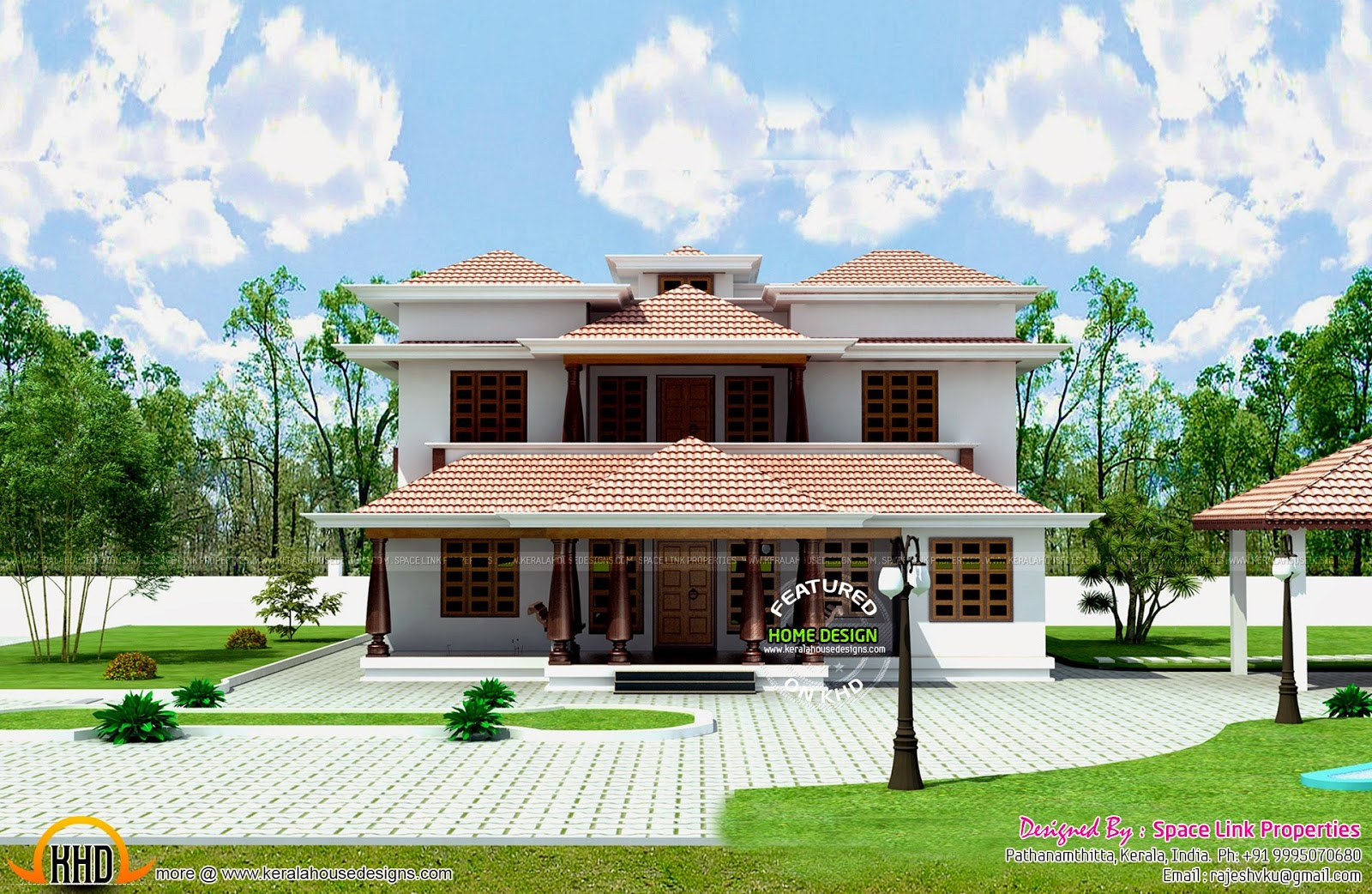 Fancy Typical Kerala Traditional House - Kerala Home Design And Floor Plans within Kerala Traditional House Plans With Photos