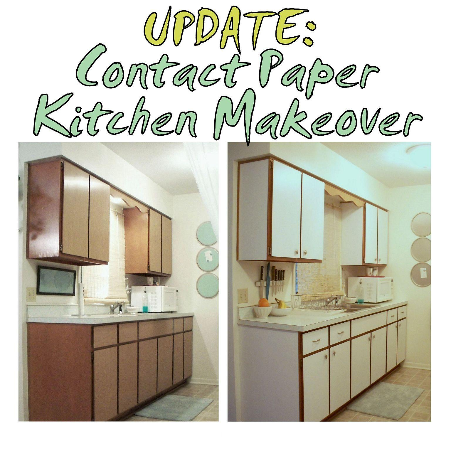 Fancy Update: Contact Paper Kitchen Makeover – The Decor Guru intended for Lovely Rental Kitchen Makeover