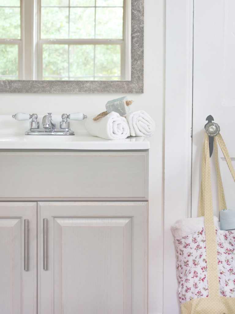Fancy Updating A Bathroom Vanity | Hgtv for Vanity For Small Bathroom