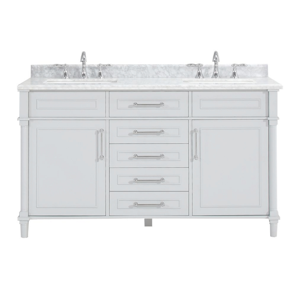 Fancy Vanities With Tops - Bathroom Vanities - The Home Depot inside Elegant White Bathroom Vanity Home Depot
