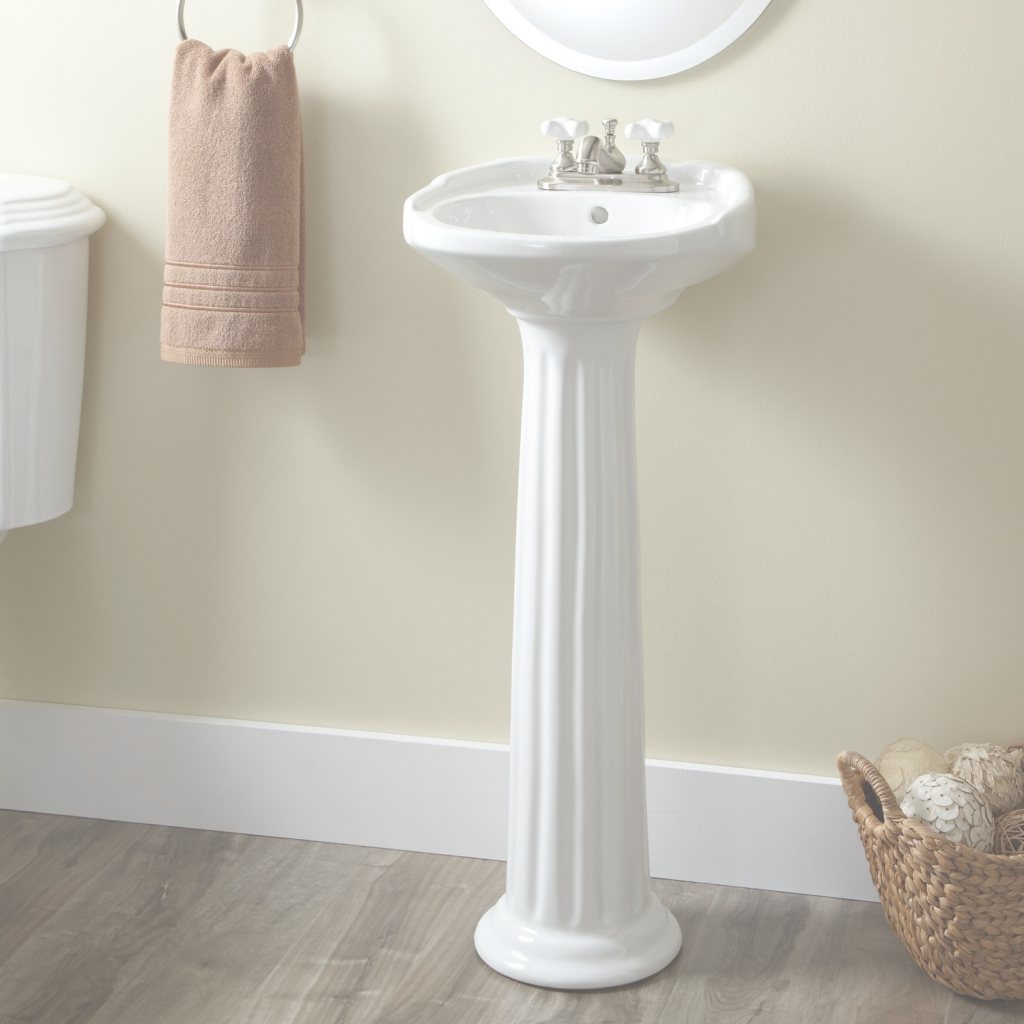 Fancy Victorian Ultra-Petite Porcelain Pedestal Sink - Bathroom inside Best of Bathroom Sink Small