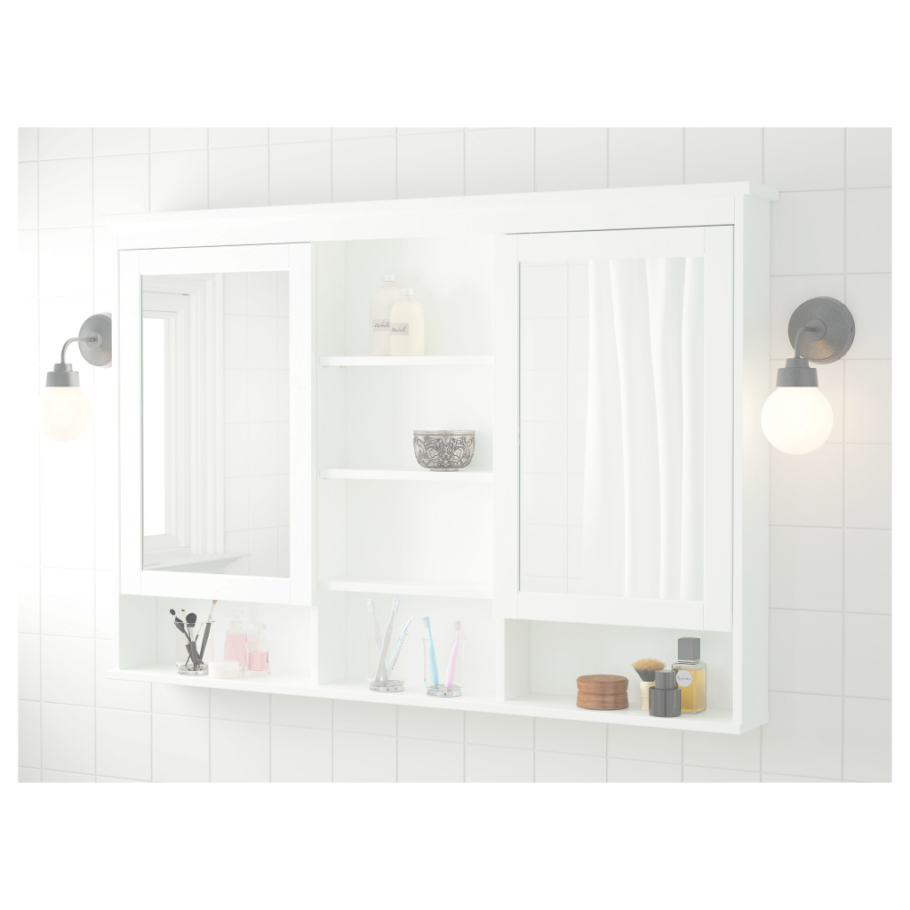 Fancy White Medicine Cabinet With Mirror And Lights Wood Vintage Recessed pertaining to Bathroom Mirror Cabinet