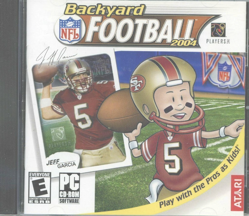 Glamorous 109.11117: Backyard Football 2004: Play With The Pros As Kids with regard to Set Backyard Football Game