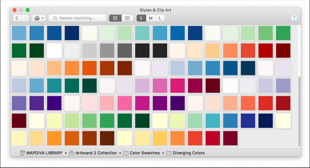 Glamorous 12 Custom Color Palettes For Macos | Mapdiva throughout Beautiful Color Palette With Names