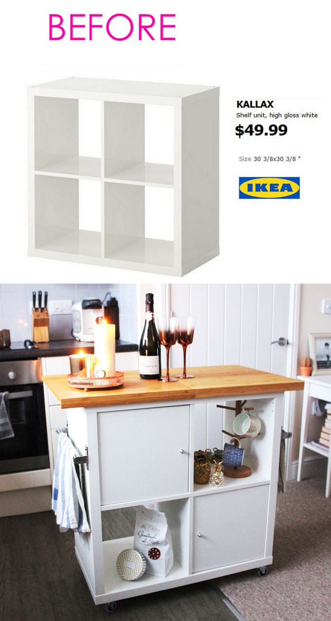 Glamorous 20+ Smart And Gorgeous Ikea Hacks ( & Great Tutorials ) - A Piece Of regarding Lovely Ikea Hack Kitchen Island