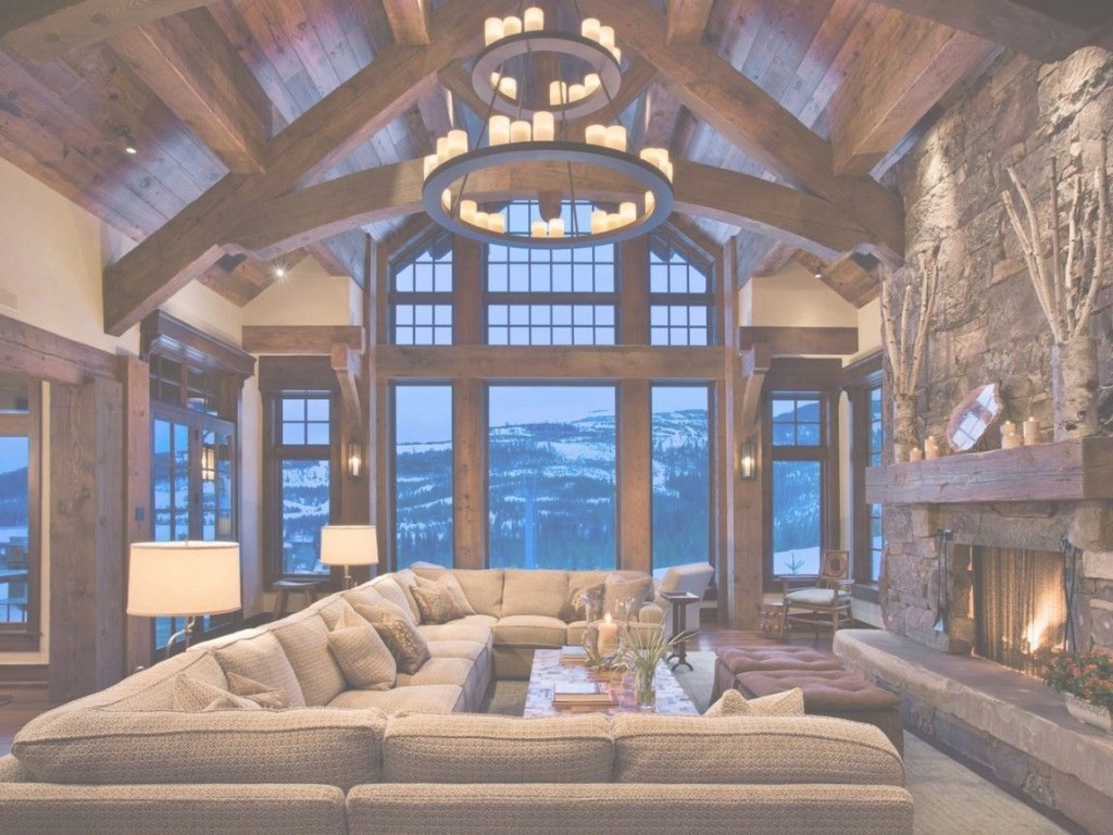 Glamorous 27 Majestic Cabins That You'll Want To Escape To | Cabin, Living throughout Best of Cabin Living Room