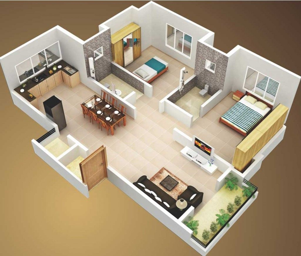Glamorous 3D Unique 2 Bedroom House Plans — House Design Ideas : Unique 2 inside High Quality 2 Bedroom House Plans
