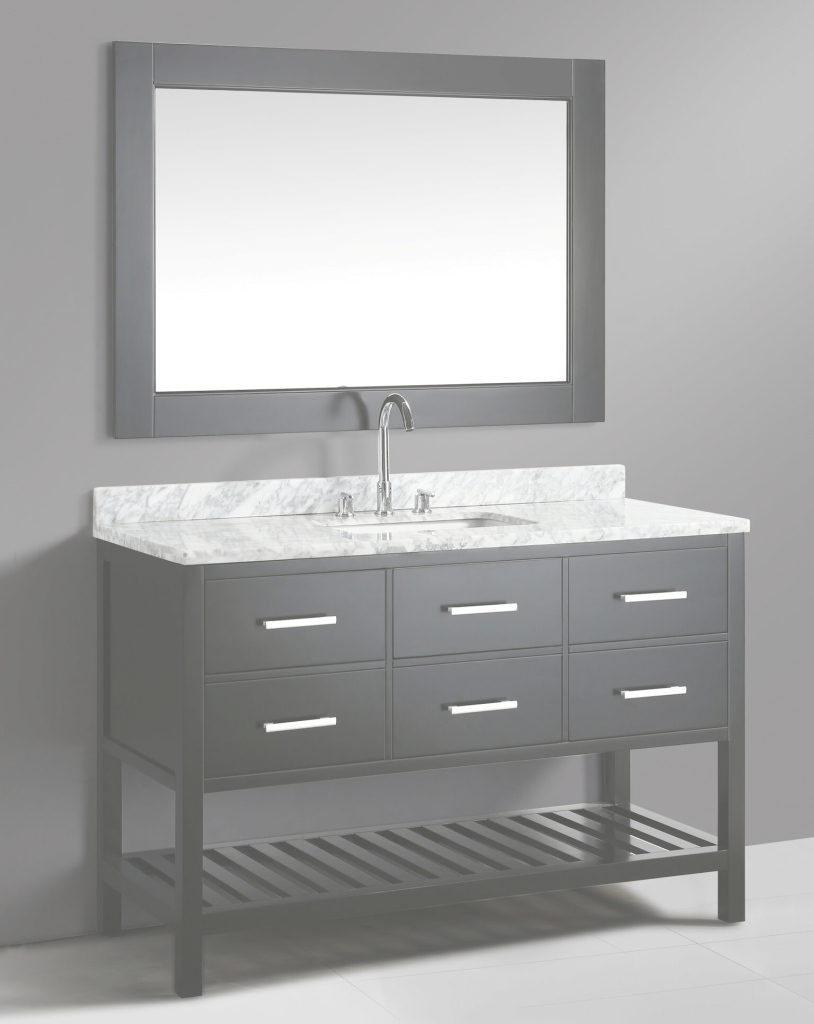 Glamorous 54 Inch Transitional Single Sink Bathroom Vanity Set Espresso Finish throughout 54 Bathroom Vanity