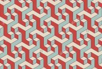 Glamorous Abstract Isometric 3D Retro Color Shapes Seamless Pattern Background intended for Set Color Pattern Design