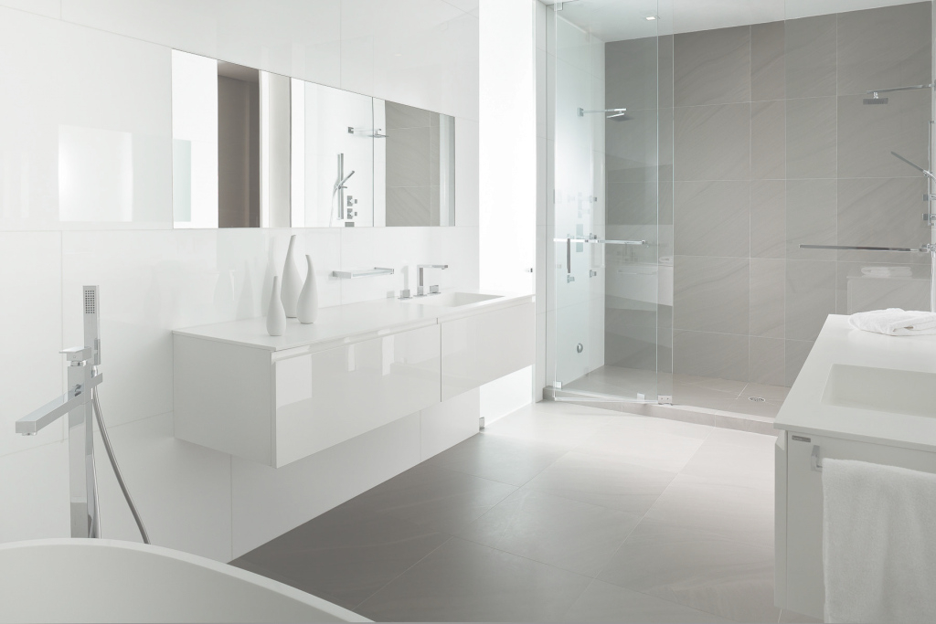 Glamorous Amazing Of Awesome Elegant White And Gray Bathrooms Theme Grey inside Lovely White And Grey Bathroom Ideas