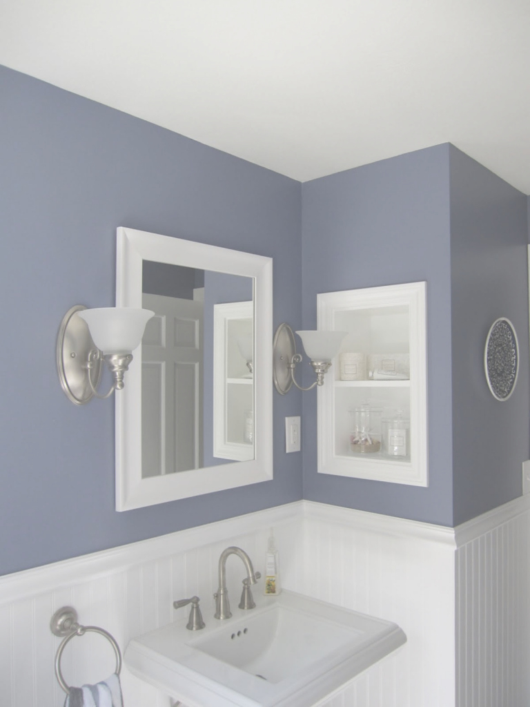 Glamorous Amazing Of Latest Bathroom Paint Samples For Bathroom Theydesign regarding Blue Bathroom Paint