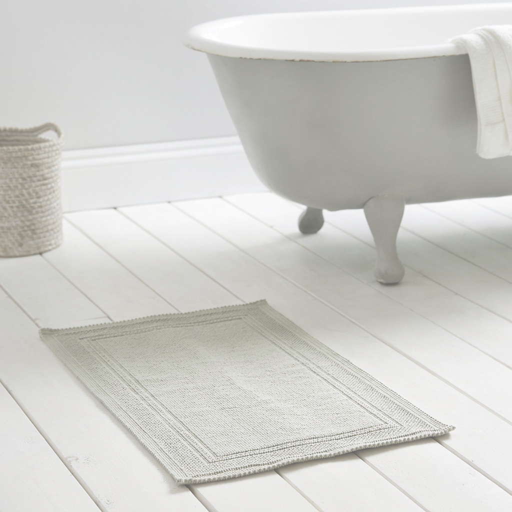 Glamorous Antibes Bath Mat - Eucalyptus From The White Company | Bathroom for New Bathroom Floor Mat