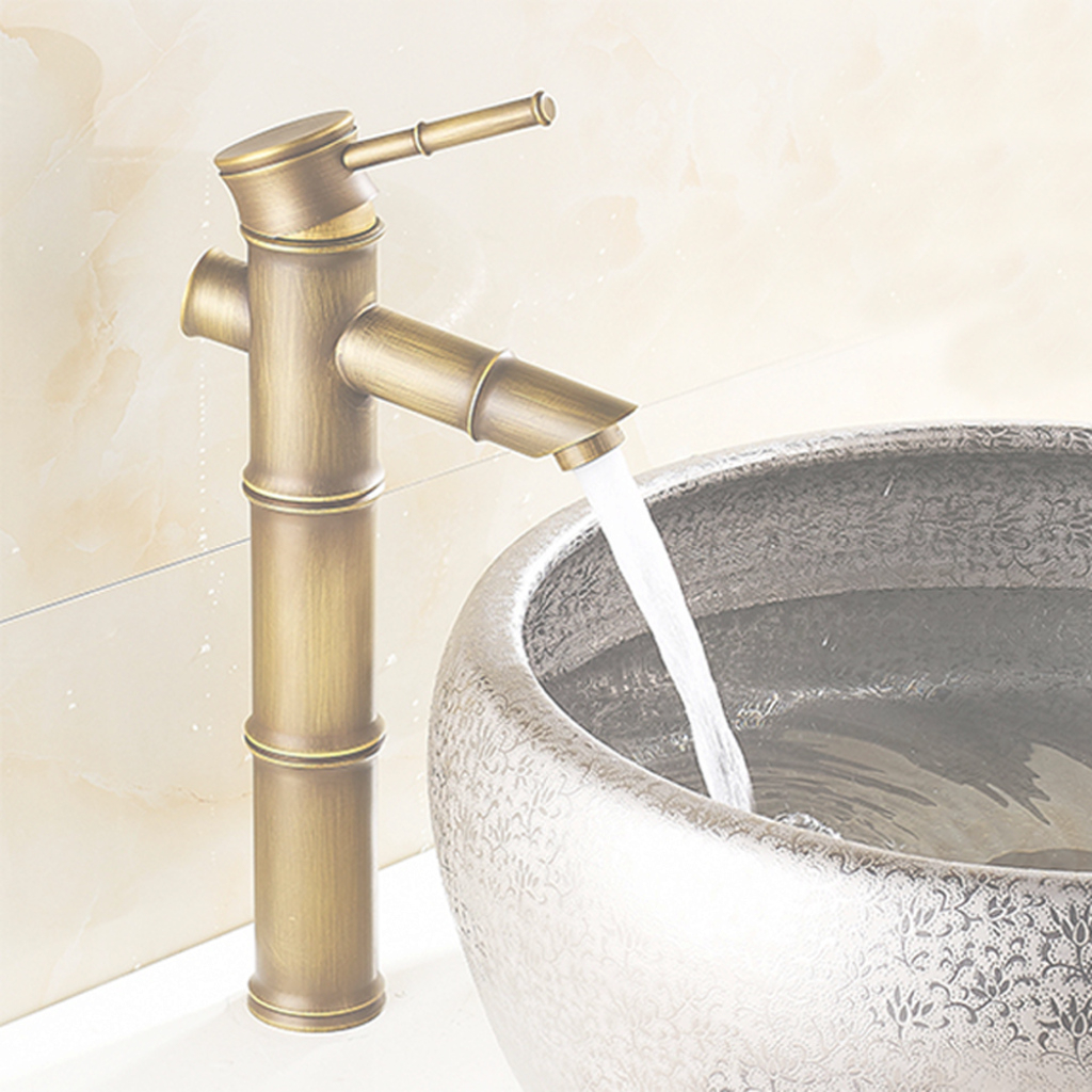 Glamorous Antique Brass Bathroom Basin Faucets Waterfall Sink Faucet Vessel for Brass Bathroom Sink