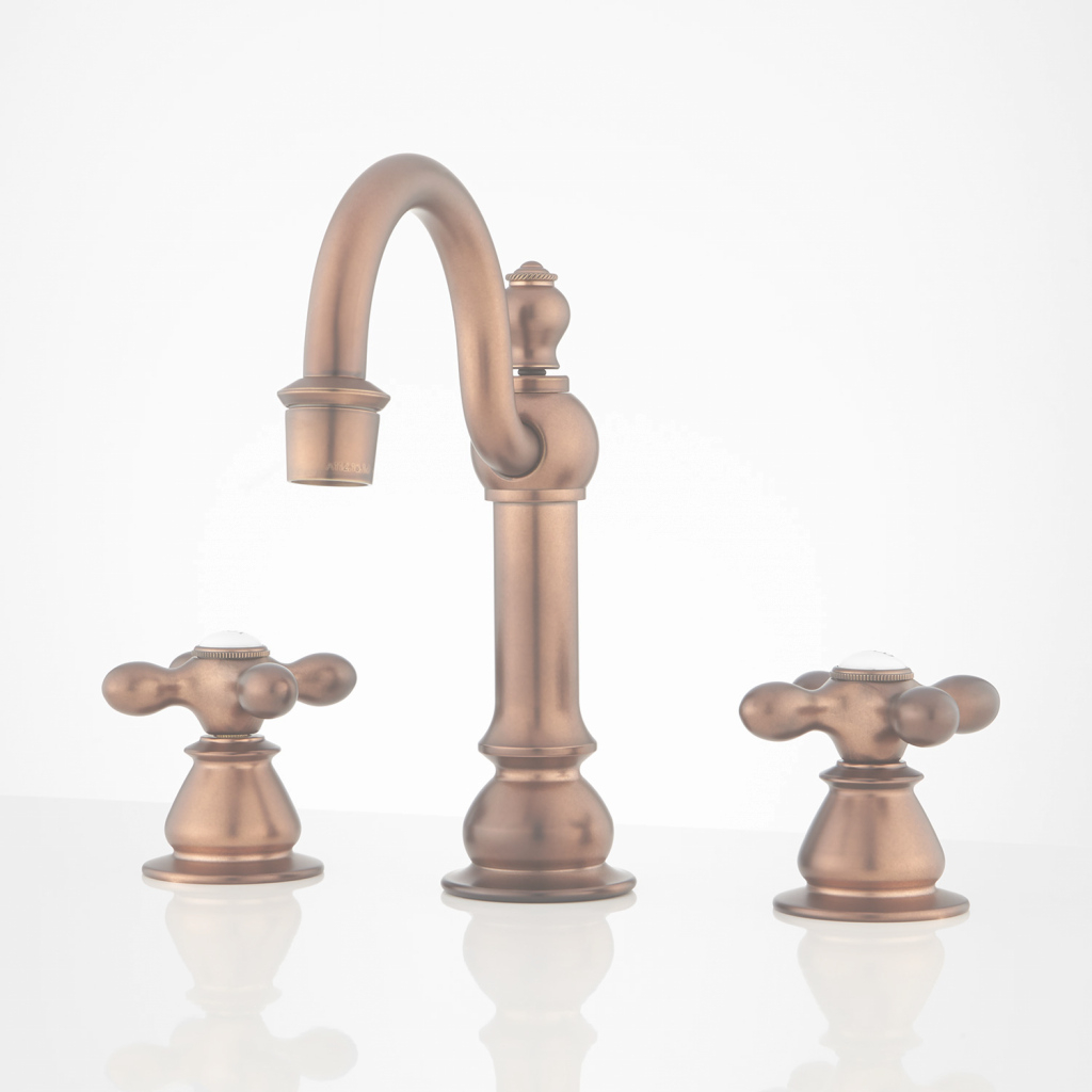 Glamorous Antique Brass Sink Faucet | Signature Hardware throughout Luxury Brushed Brass Bathroom Faucet