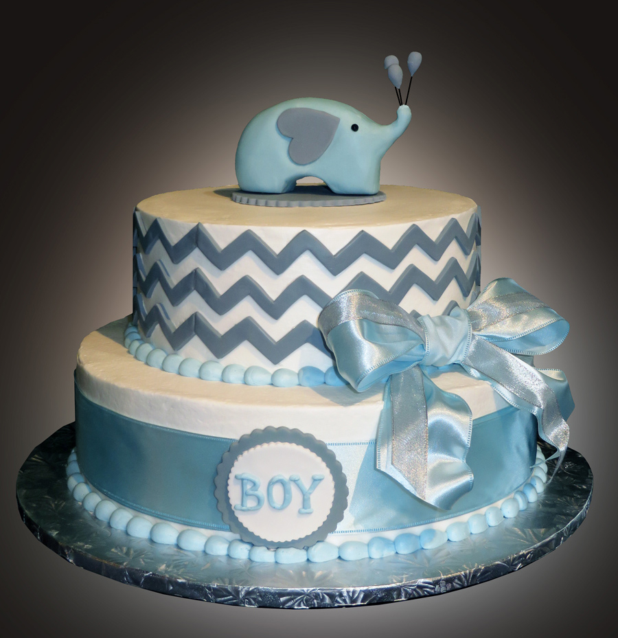 Glamorous Baby Shower Cakes - Sweet Somethings Desserts within Baby Boy Shower Cakes