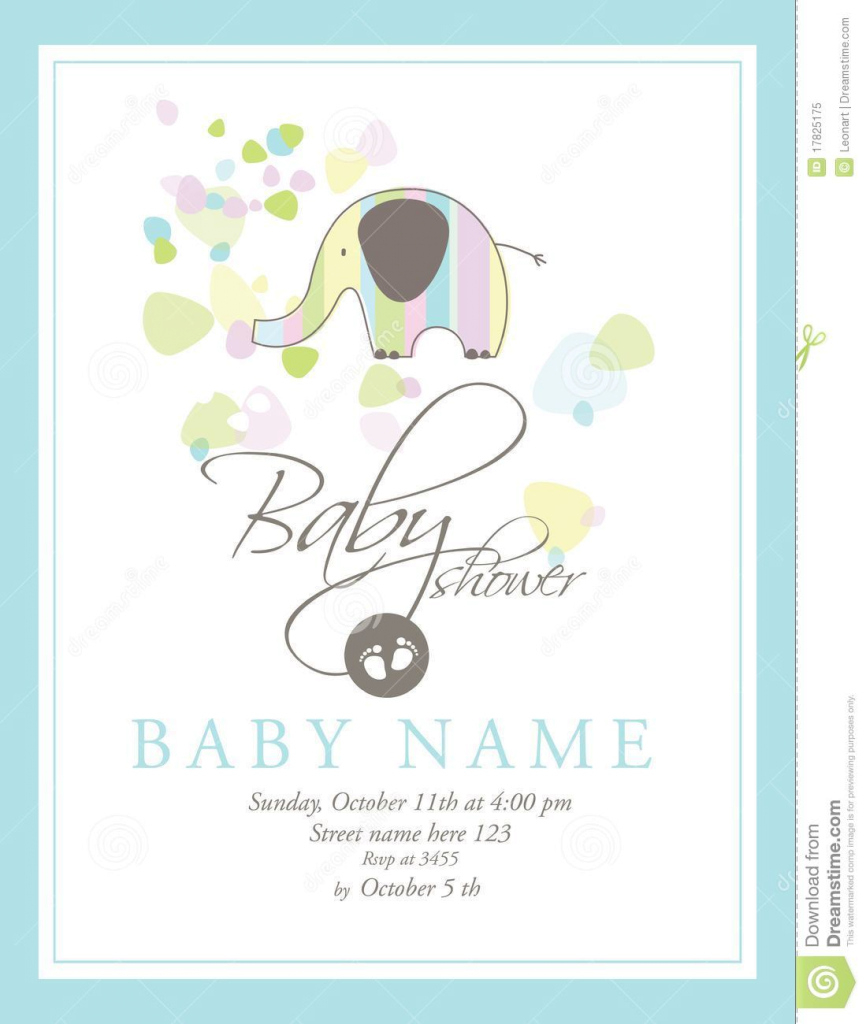 Glamorous Baby Shower Card Stock Vector. Illustration Of Design - 17825175 inside High Quality Baby Shower Cards