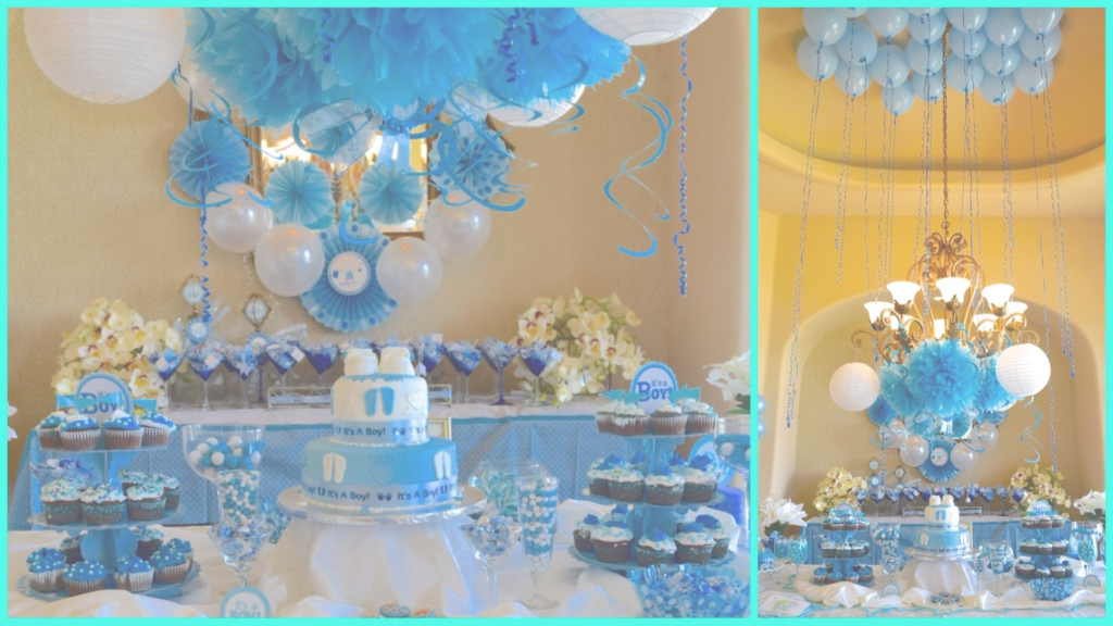 Glamorous Baby Shower Ideas For Boy Blue Theme - Youtube for Boy Baby Shower Theme Ideas