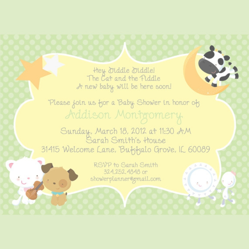 Glamorous Baby Shower Invitation Nursery Rhymes Baby Shower Invitation pertaining to Best of Baby Shower Rhymes