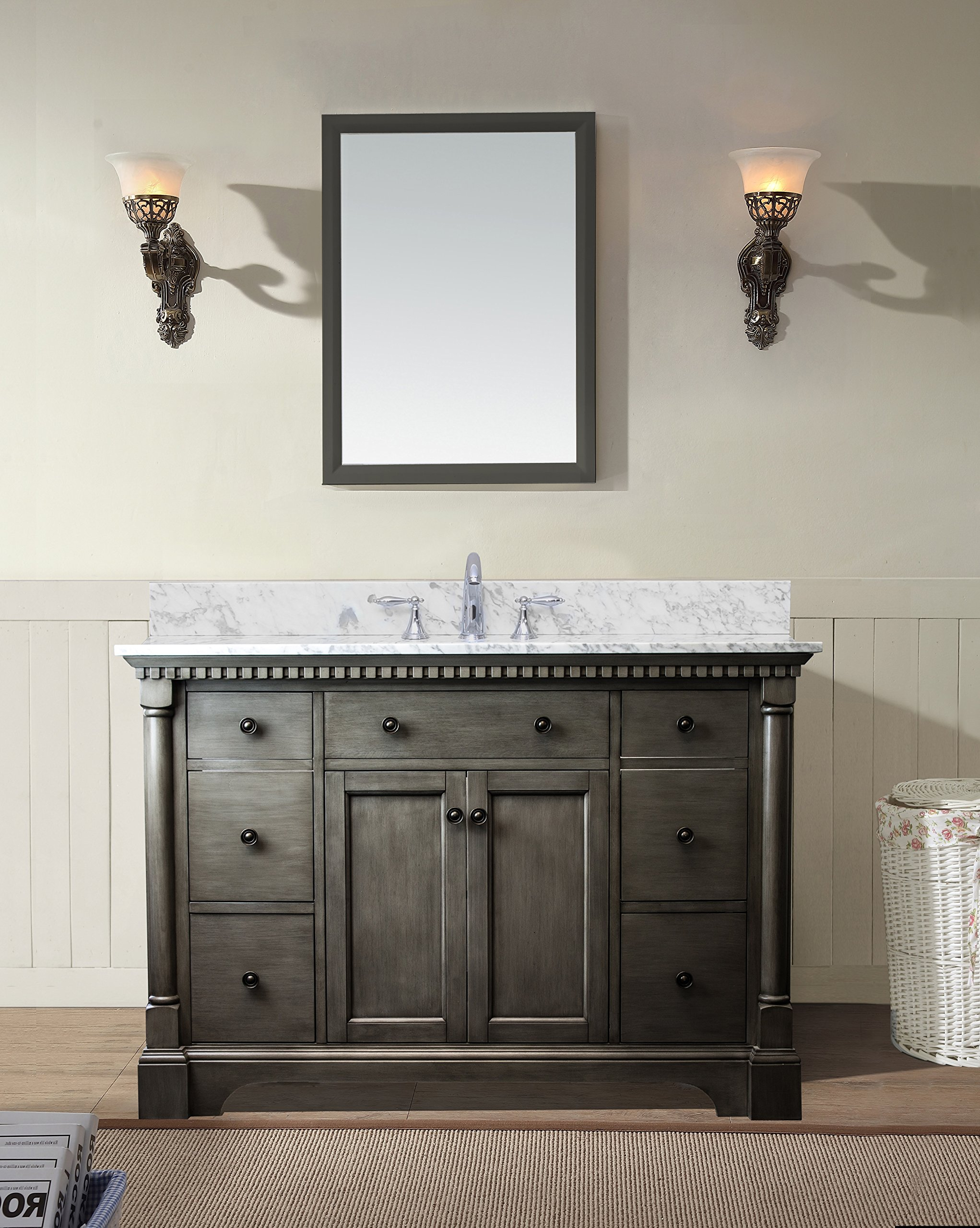 "Glamorous Bathroom Cabinets San Antonio Inspiration Stella 49"" Bathroom Vanity with Best of Bathroom Vanities San Antonio"