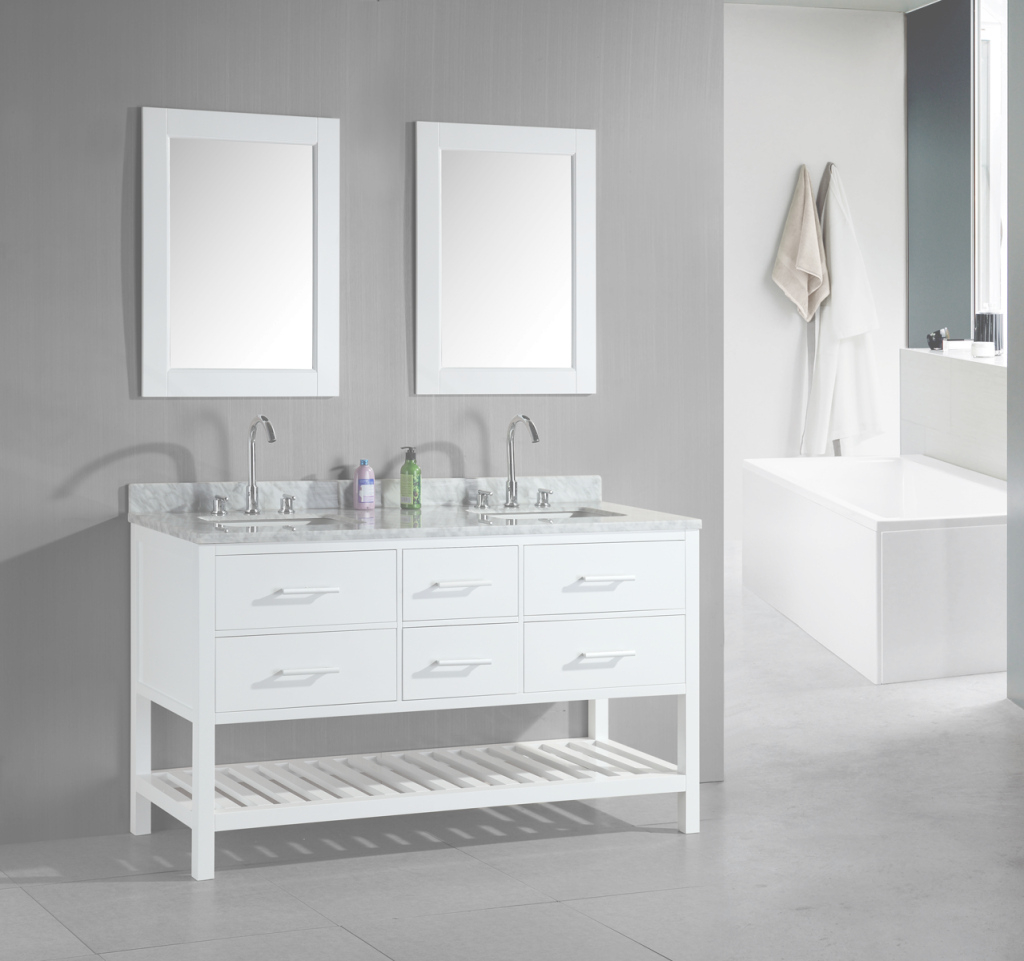 Glamorous Bathroom: Free Standing White Bathroom Vanities With Shelf With with regard to Unique Free Standing Bathroom Vanity