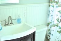 Glamorous Bathroom: Lovely Soft Blue Small Bathroom Color Nuance With Floral with Oval Room Blue Bathroom