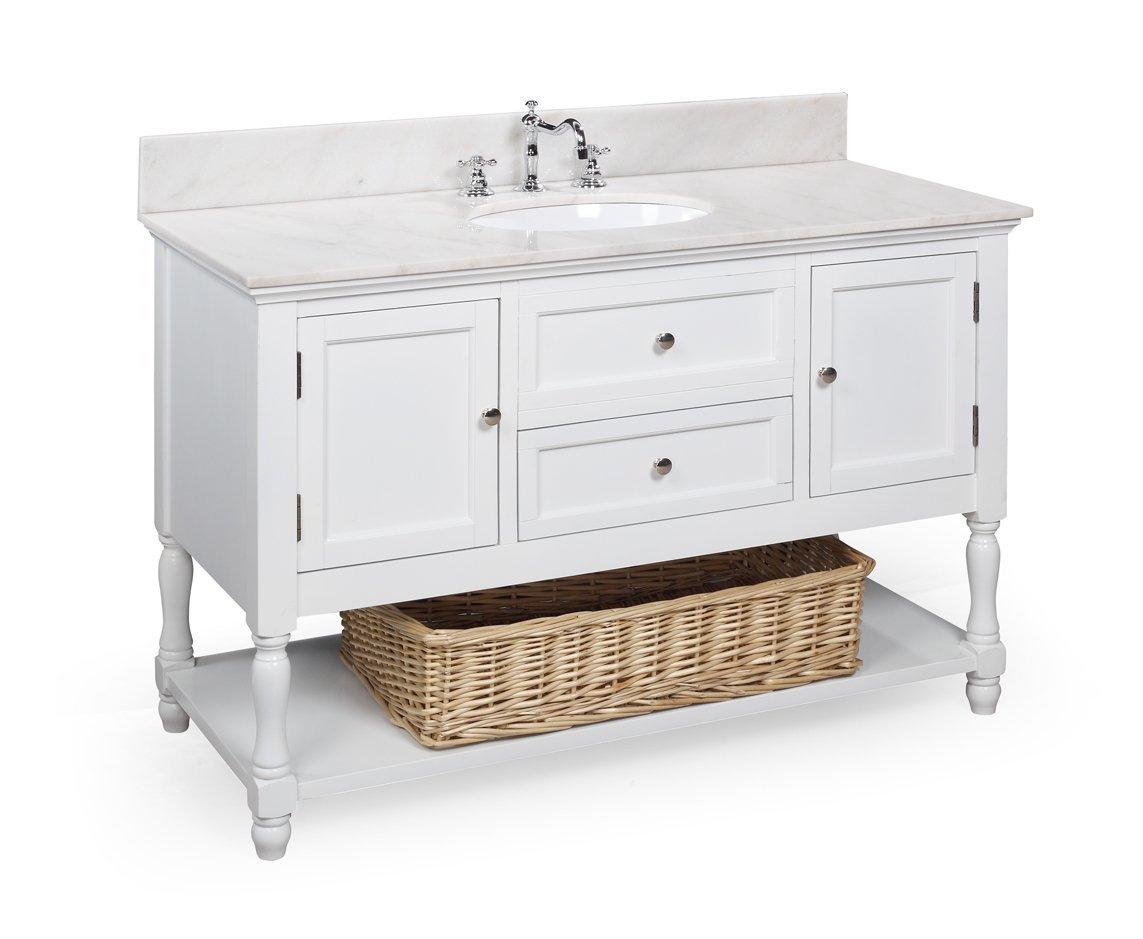 Glamorous Bathroom : Narrow Depth Bathroom Vanity Pottery Barn Bathroom throughout Furniture Style Bathroom Vanities