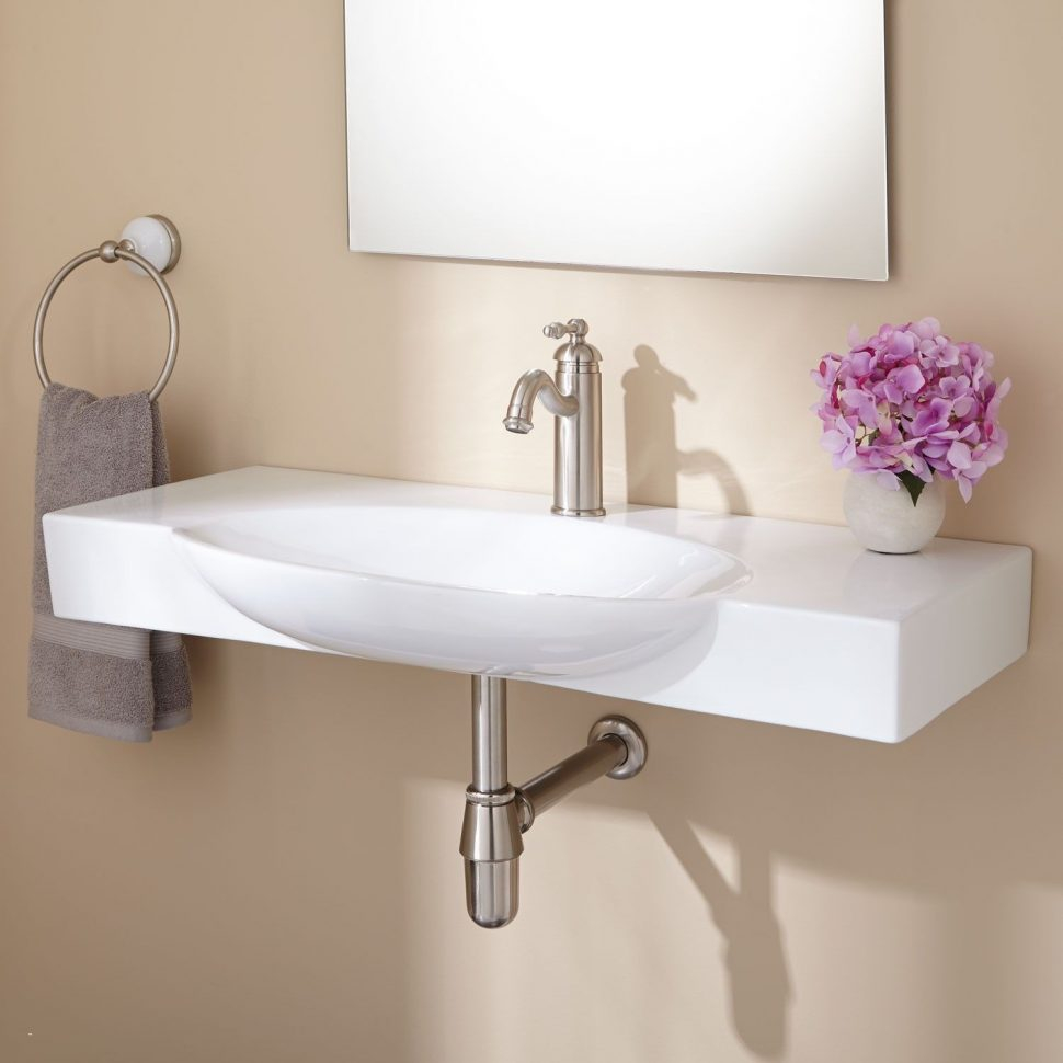 Glamorous Bathroom Sink : Wall Mount Bathroom Sink Wall Mount Bathroom Sink with regard to Small Bathroom Sinks Wall Mount