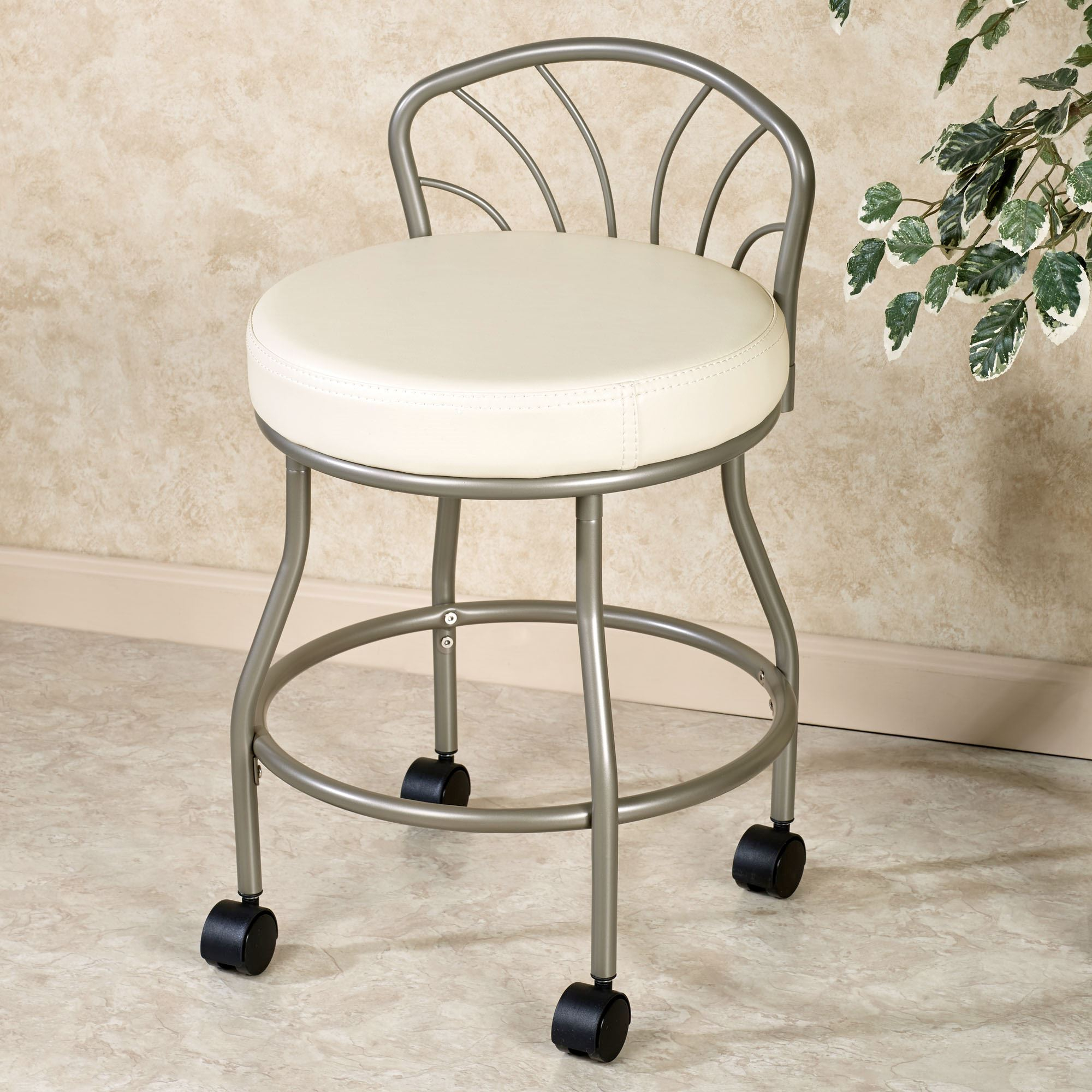 Glamorous Bathroom Vanity Stools With Wheels Furniture Stylish And Chairs For inside Set Bathroom Vanity Stools