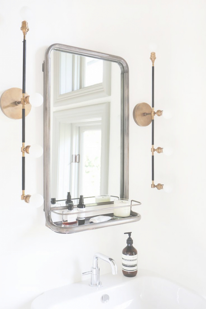Glamorous Bathroom With Perfect Size And Position For Mirror Cabinet Is More for Brass Bathroom Mirror