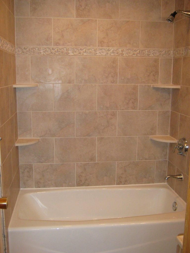Glamorous Bathtub Walls Or Do We Rip Out The Tub And Shelving Unit And It All within Review Bathroom Tub Tile Ideas