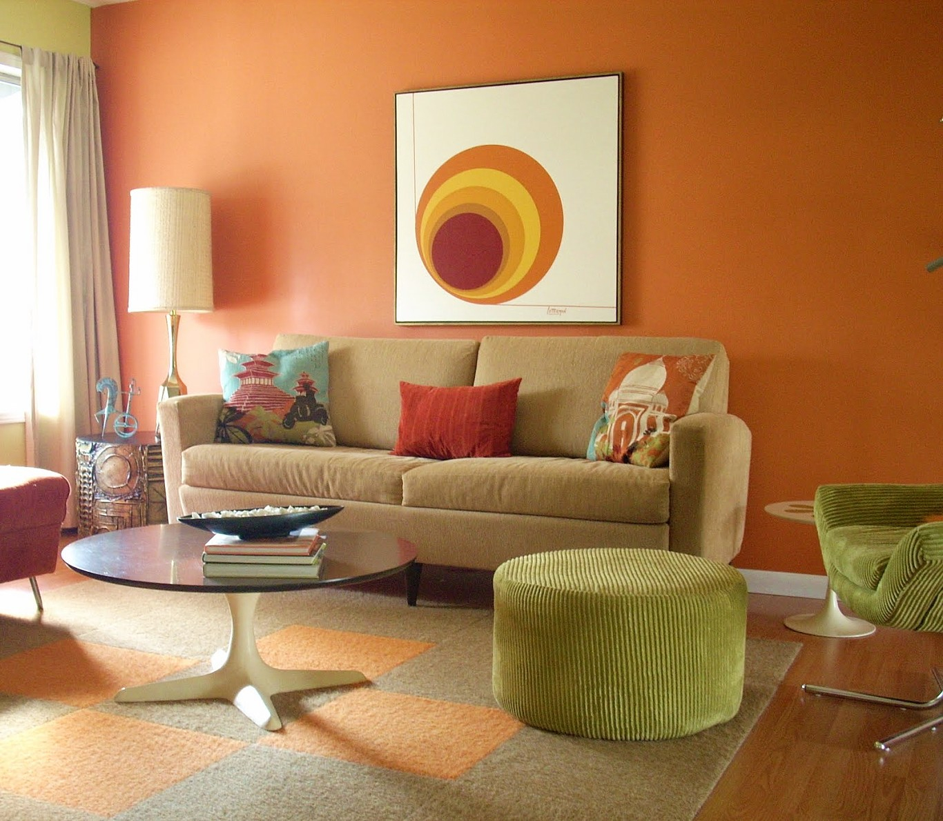Glamorous Brown And Orange Living Room Ideas Orange Wall Living Room Ideas throughout Burnt Orange Living Room