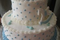 Glamorous Buttercream Baby Shower Cakes | This Baby Shower Cake Was An Almond intended for Review Baby Boy Shower Cakes