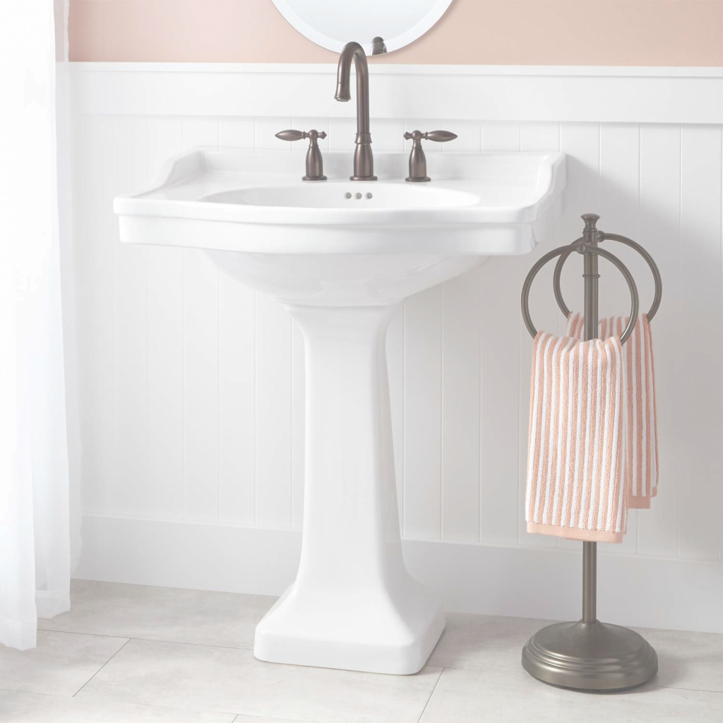 Glamorous Cierra Large Porcelain Pedestal Sink - Bathroom pertaining to Large Bathroom Sinks