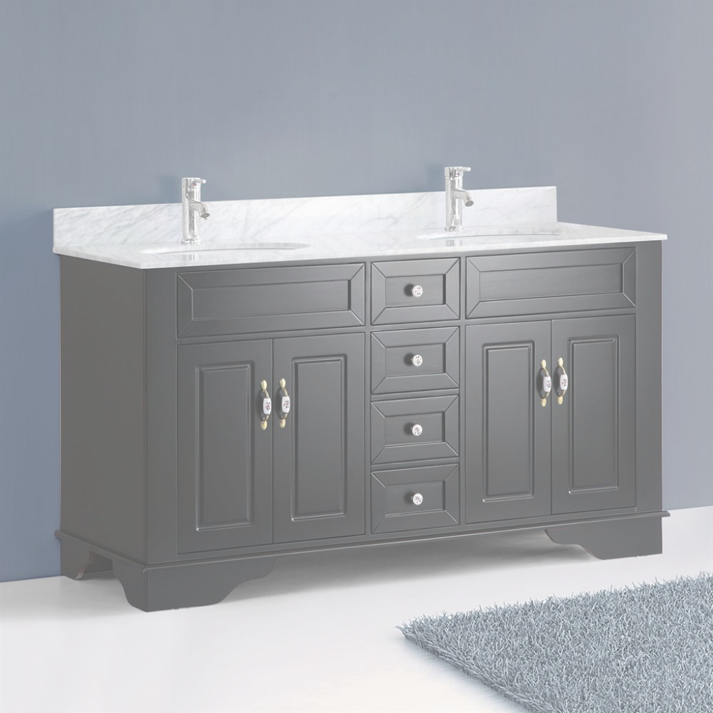 Glamorous Classic 59 Inch Double Sink Bathroom Vanitybosconi Traditional intended for Luxury 59 Inch Bathroom Vanity